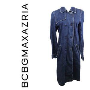 BCBGMAXAZRIA Denim Long Jacket. Sz M